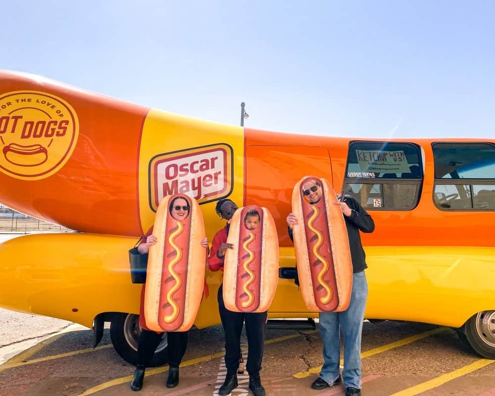 Oklahoma - Oklahoma City - Farmers Market District - Oscar Meyer Hot Dog Mobile