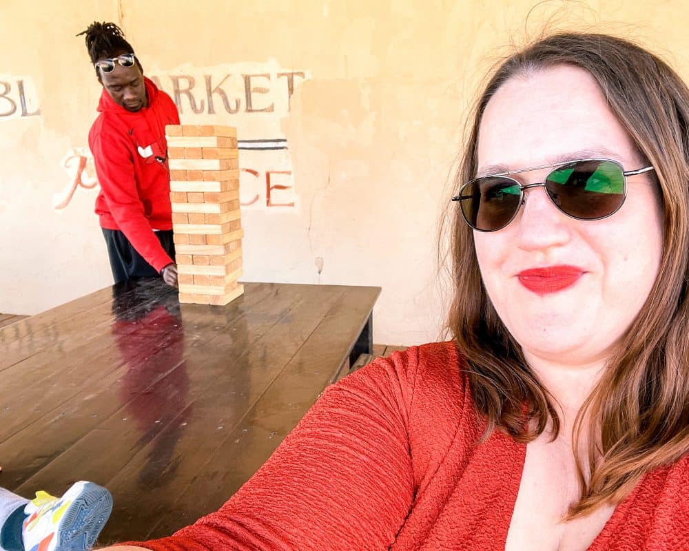 Oklahoma - Oklahoma City - Farmers Market District - Power House OKC - Valentine and Stephanie Jenga