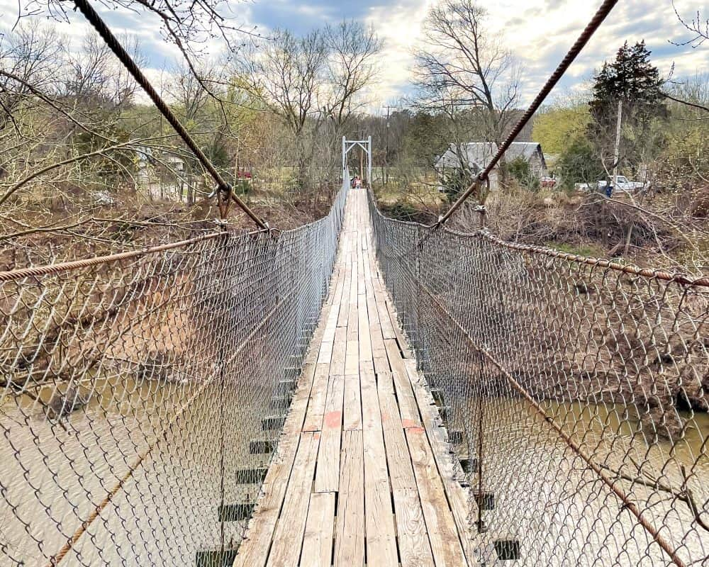 Oklahoma - Pawhuska - Pawhuska Swinging Bridge