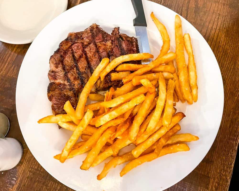 Oklahoma - Yukon - The Lokal - Ribeye and French Fries
