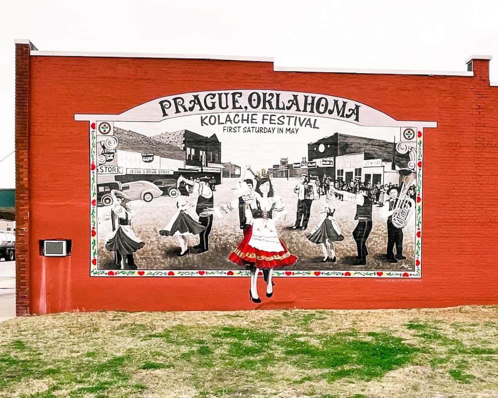 Oklahoma - Prague - Kolache Festival Mural