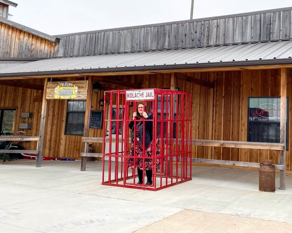 Oklahoma - Prague - Stephanie in the Kolache Jail