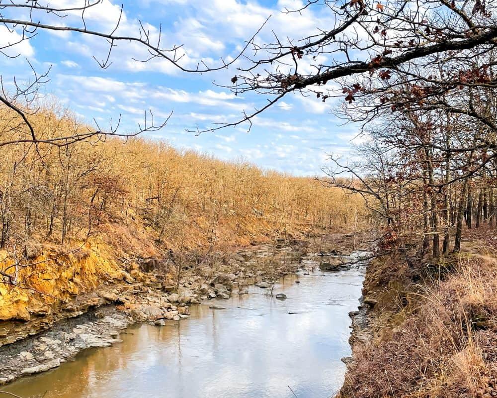 Oklahoma - Pawhuska - Creek at Bluestem Falls