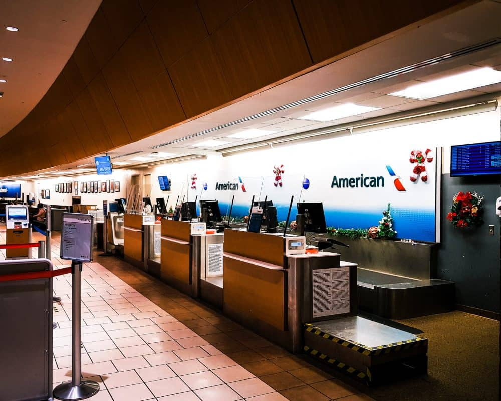 Oklahoma - Oklahoma City - Will Rogers Airport- American Airlines Counter
