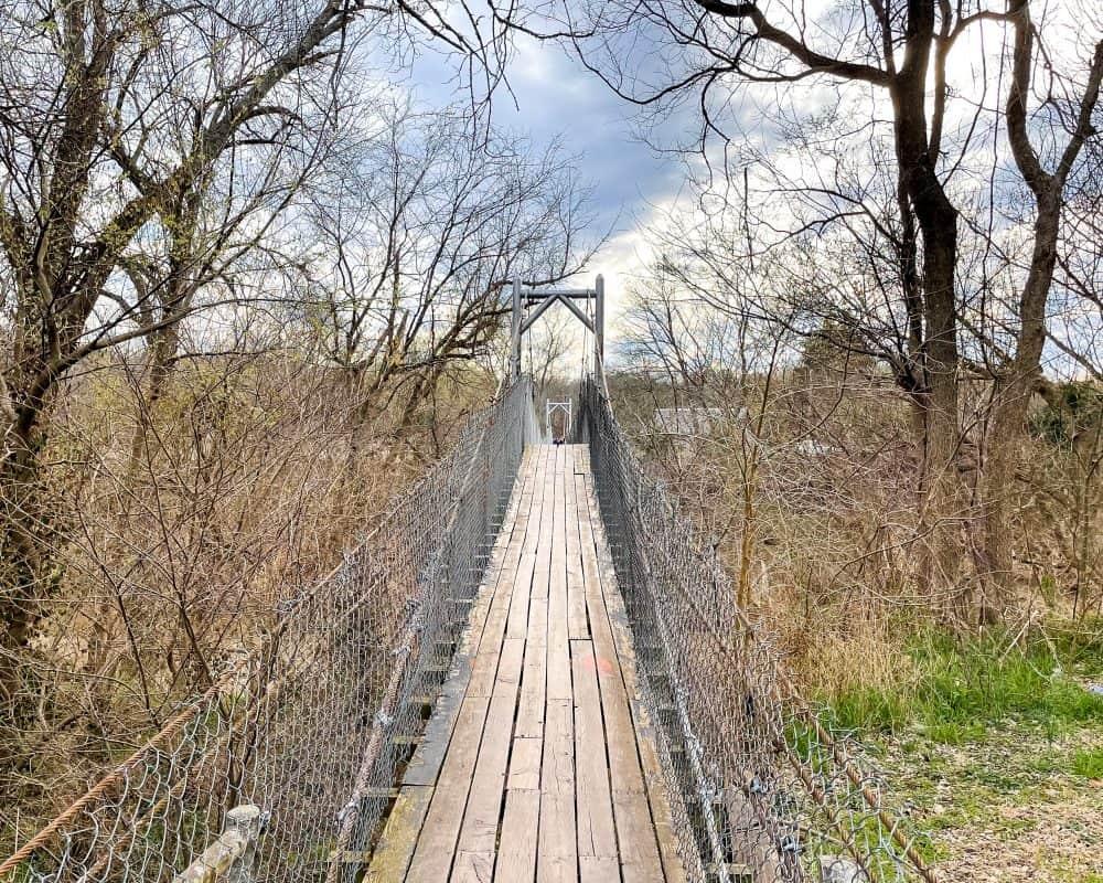 Oklahoma - Pawhuska - Swinging Bridge