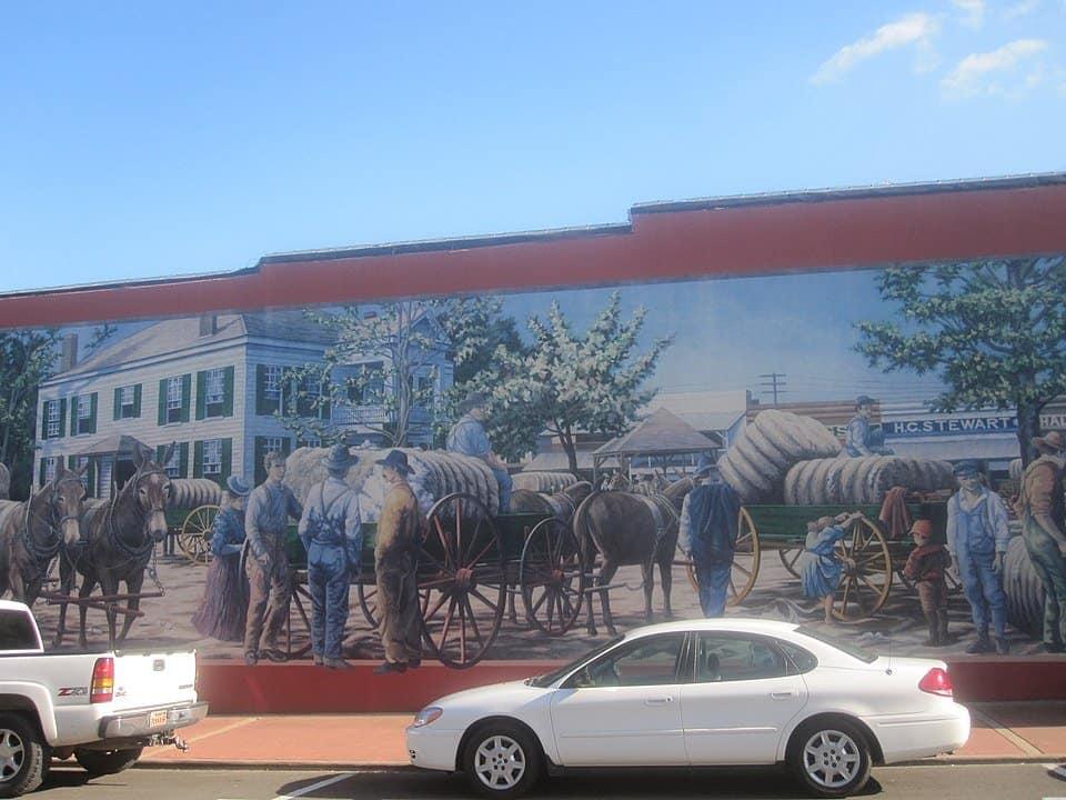 Arkansas - Magnolia - Mural in Downtown