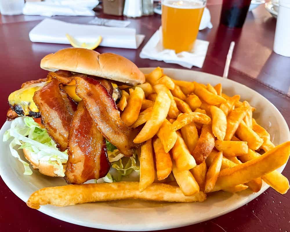 Oklahoma - Guthrie - Downtown Guthrie - Stables Cafe Bacon Cheeseburger