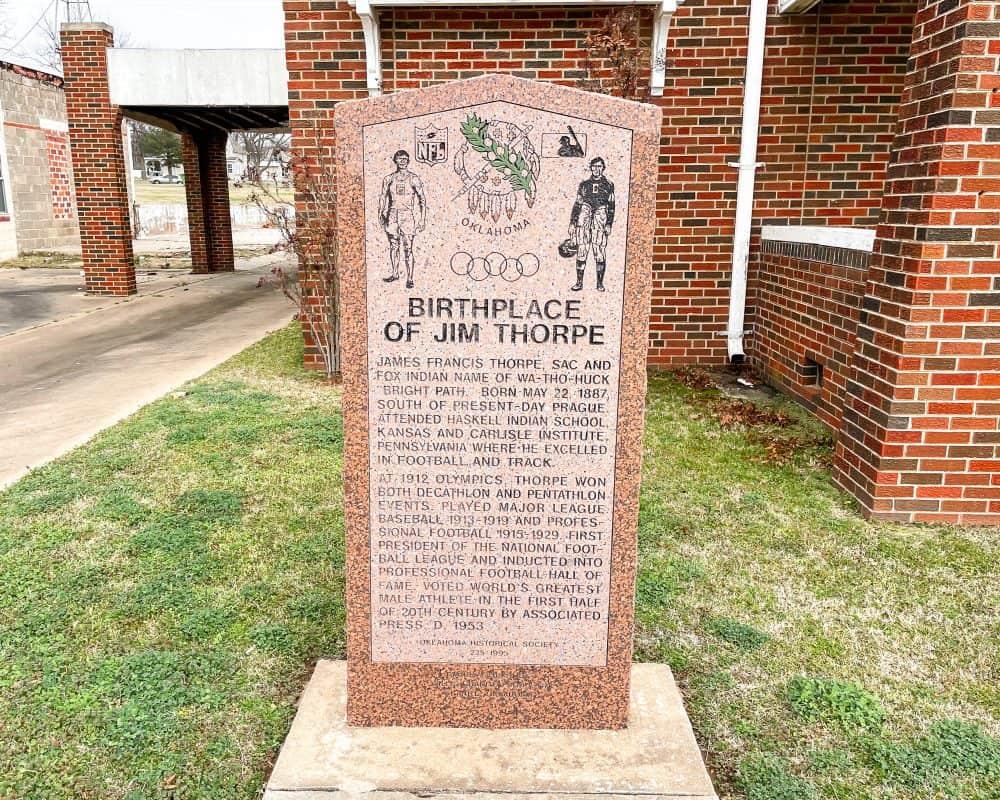 Oklahoma - Prague - Birthplace of Jim Thorpe Memorial