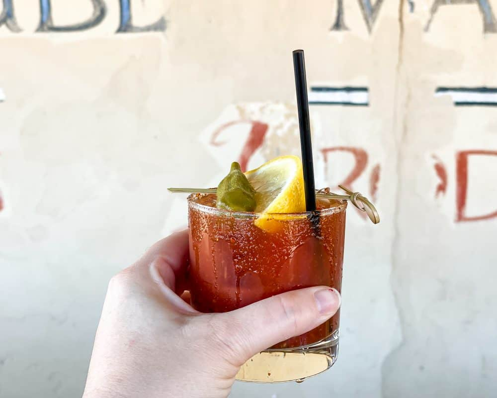 Oklahoma - Oklahoma City - Farmers Market District - Power House - Bloody Mary with a Pickled Okra