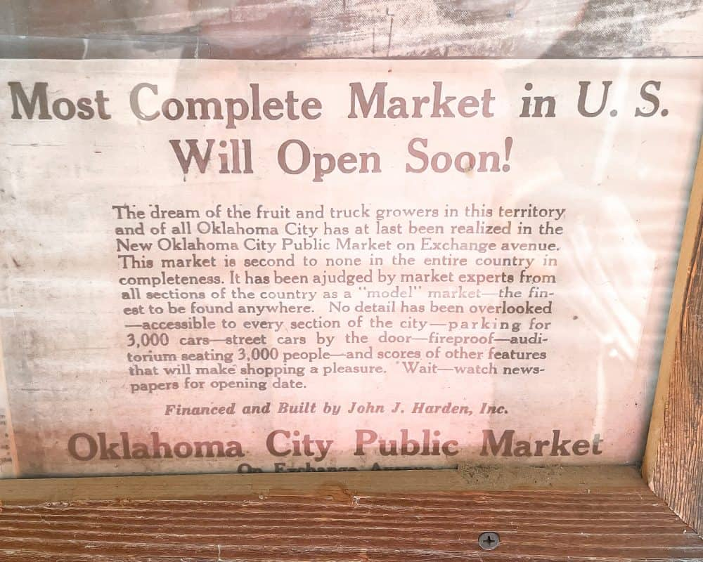 Oklahoma - Oklahoma City - Farmers Market District - Farmers Market Newspaper Story