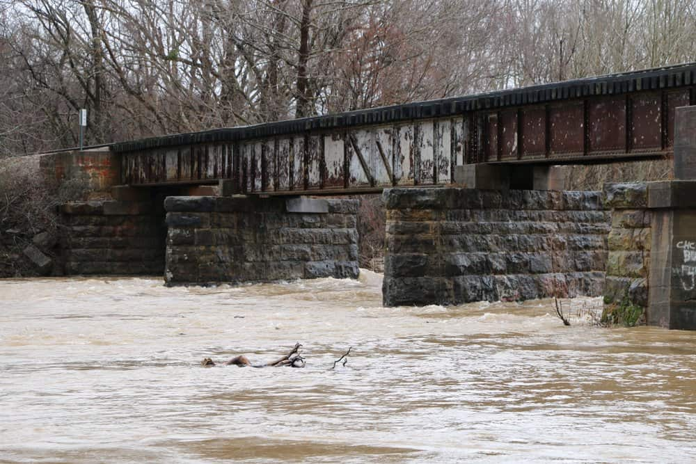 Arkansas - Mountainberg - Historic Arkansas Missouri Railroad bridge over Frog Bayou in Mountainburg Arkansas near Lake Fort Smith State Park