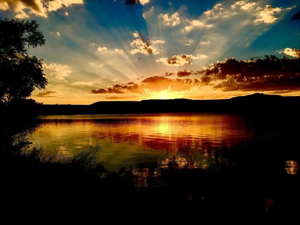 Kansas - Sunset over Scott Lake Park, Kansas, USA