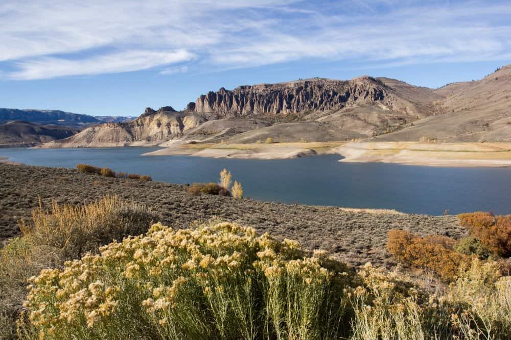Colorado - Gunnison - The Dillon Pinnacles and Blue Mesa Reservoir at Curecanti National Recreation Area, Colorado.