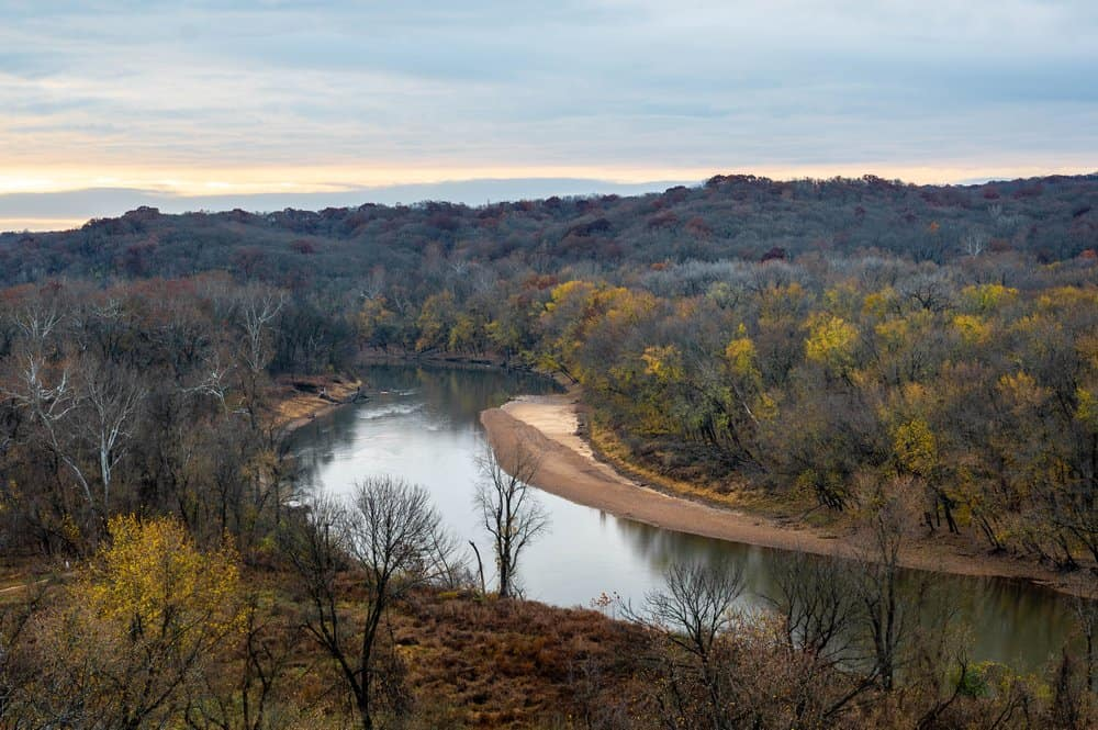 MIssouri - View from the top of the bluffs at Castlewood State Park in Missouri