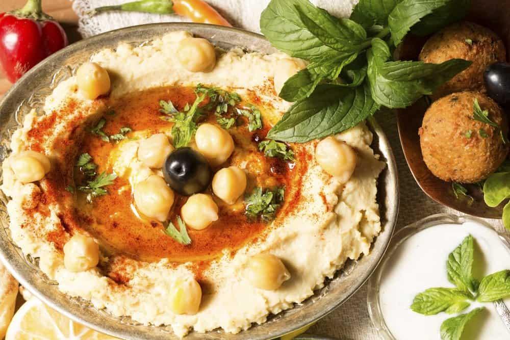 Oklahoma - Tulsa - Hummus and falafel close up