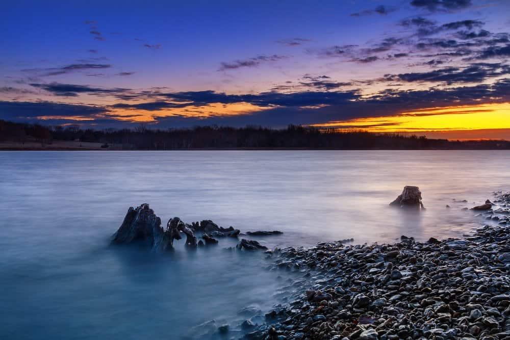 Missouri - A beautiful sunrise at Longview Lake. Longview Lake is located just outside of Kansas City, Missouri.