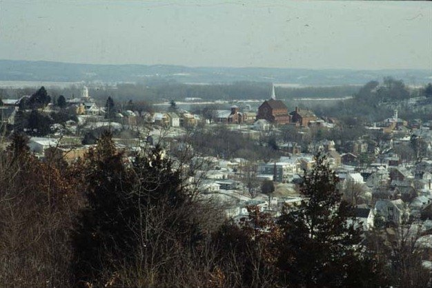 Missouri - Westphalia - Winter Scene over the Missouri Small Town of Westphalia