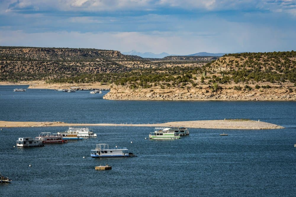 New Mexico - Navajo Lake State Park in New Mexico the Land of Enchantment with Houseboats