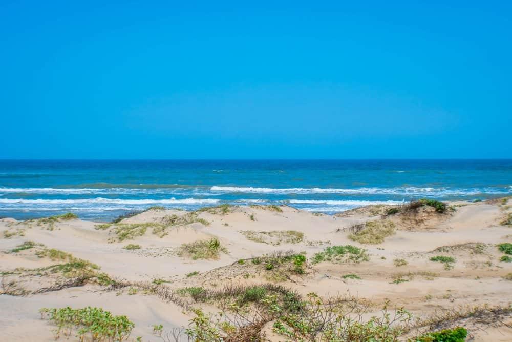 Texas - A beautiful soft and fine sandy beach along the gulf coast of South Padre Island, Texas