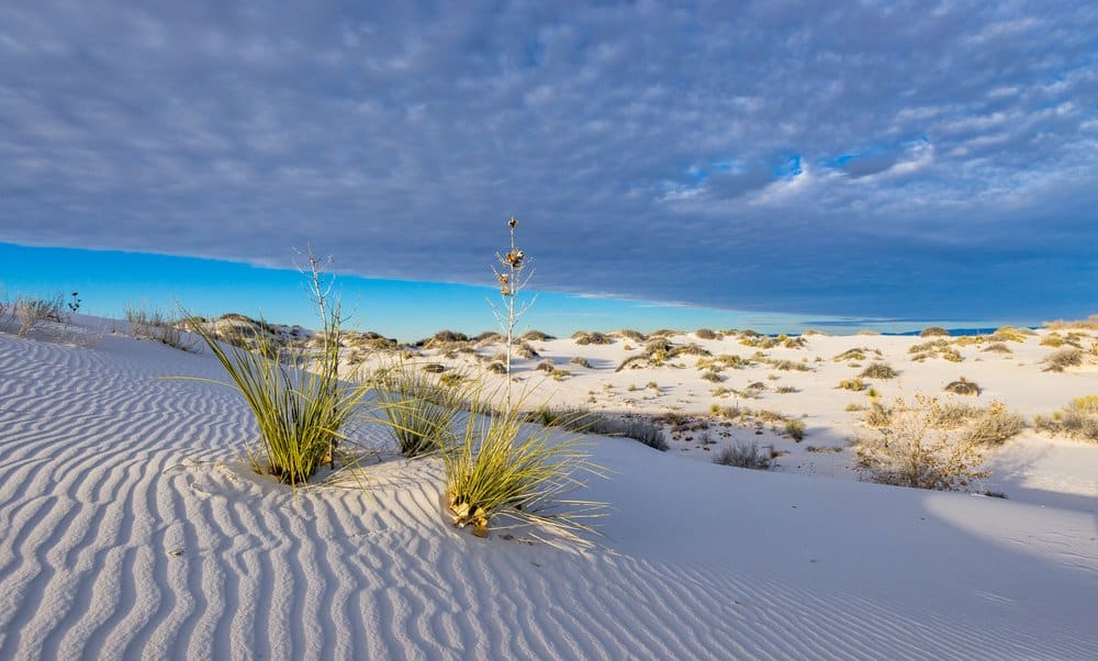 New Mexico - Sunset in White Sands National Park