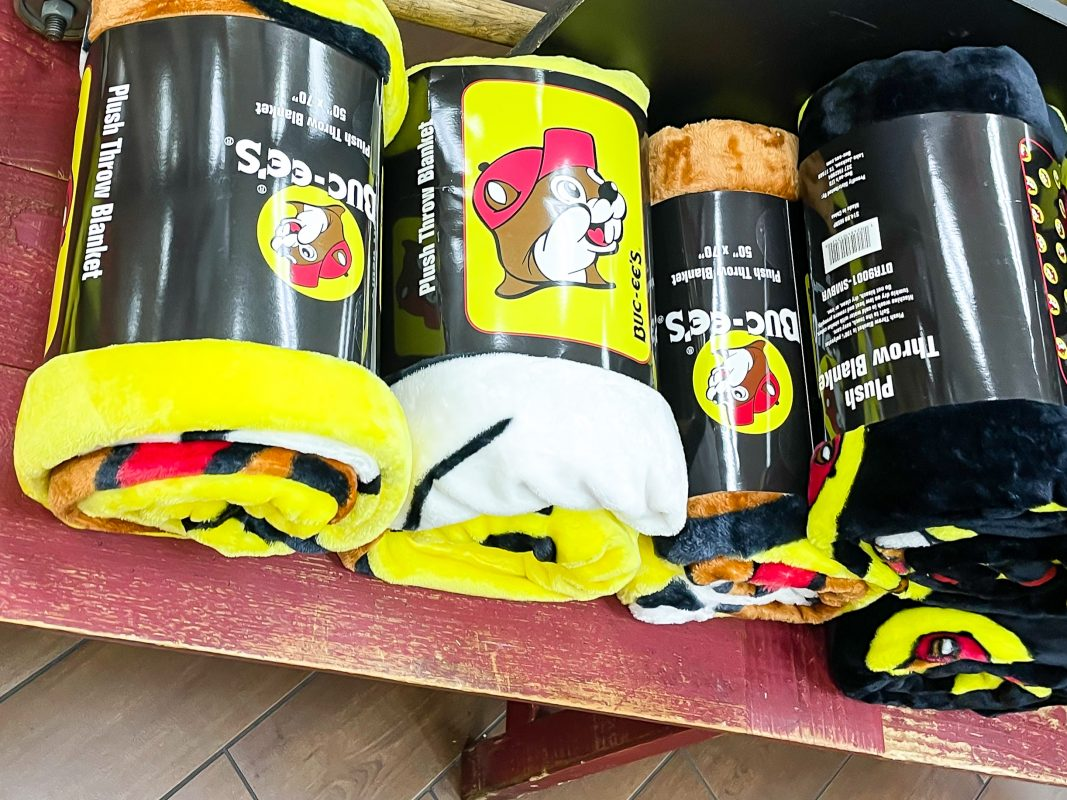 Texas - Temple - Buc-ee's Convenience Store and Gas Station - Buc-ee's Plush Throw Blanket