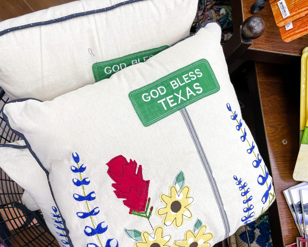 Texas - Temple - Buc-ee's Convenience Store and Gas Station - God Bless Texas Pillow