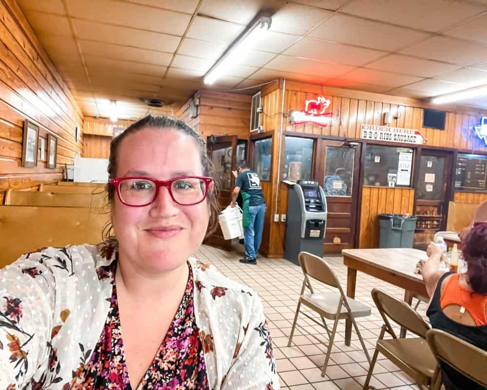 Texas - Luling - Downtown Luling - Original City Market BBQ - Stephanie Selfie