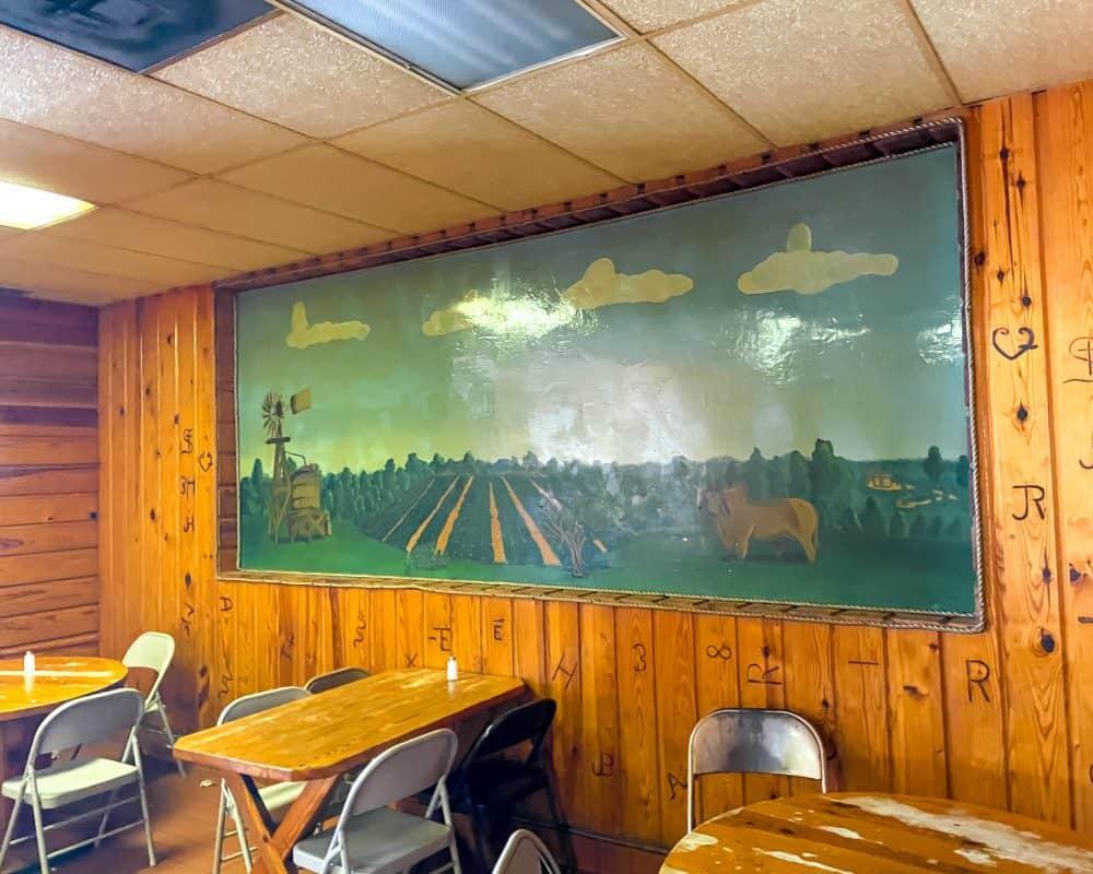 Texas - Luling - Downtown Luling - Original City Market BBQ - Mural