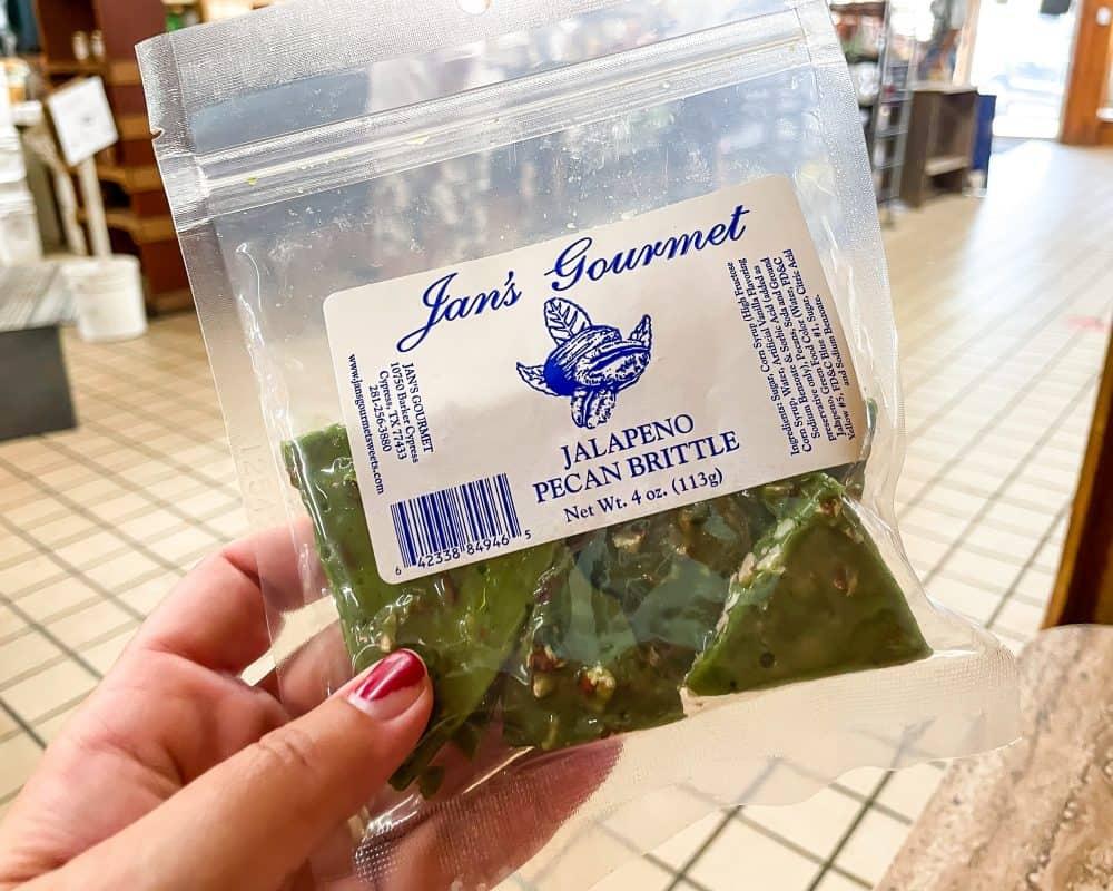 Texas - Luling - Downtown Luling - Original City Market BBQ - Texas Souvenirs - Jan's Gourmet Jalapeño Pecan Brittle