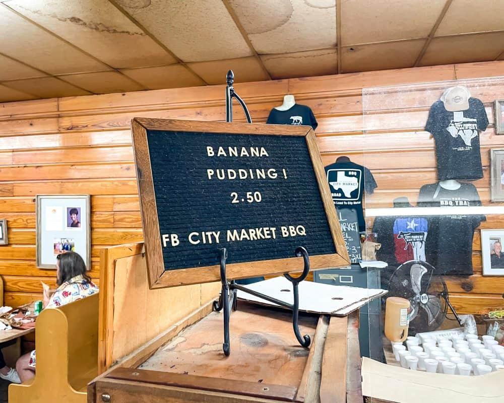 Texas - Luling - Downtown Luling - Original City Market BBQ - Banana Pudding