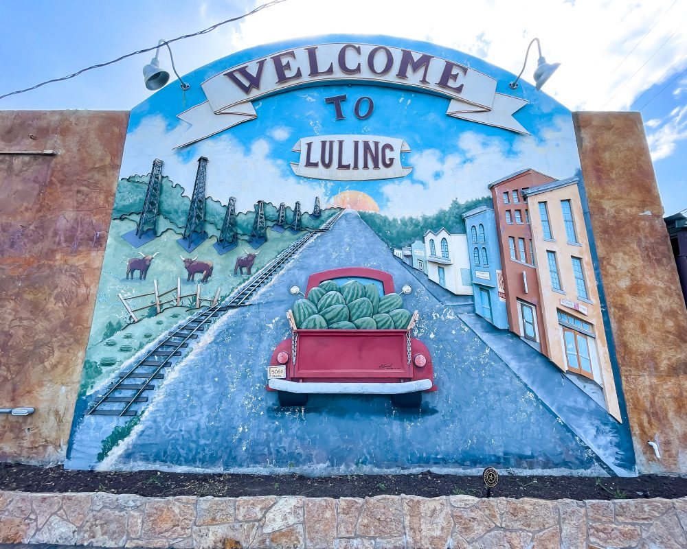 Texas - Luling - Downtown Luling - Welcome to Luling Mural