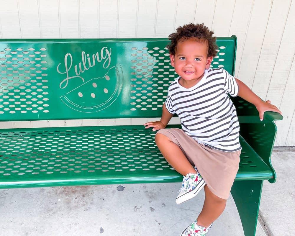 Texas - Luling - Downtown Luling - Jordan on Luling Bench