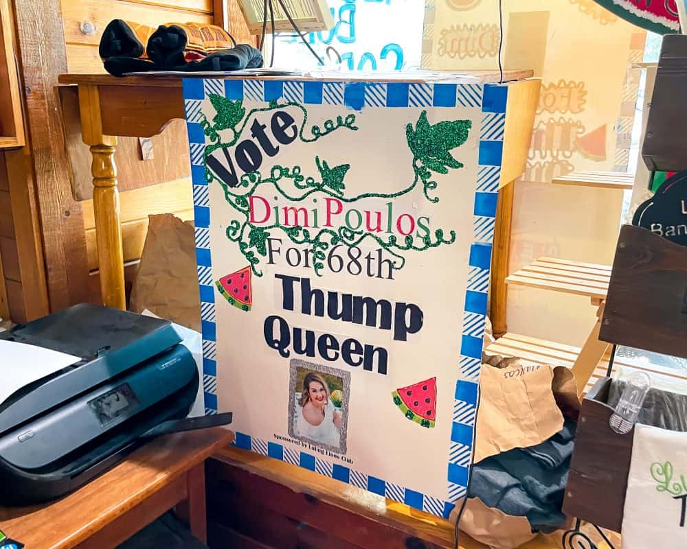 Texas - Luling - Main Street - Watermelon Thump Queen Voting