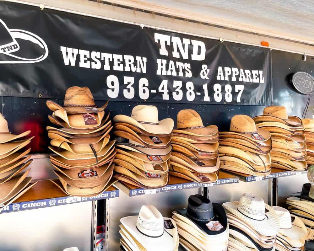 Texas - Luling - Watermelon Thump - The Market at the Thump - Cowboy Hat Texas Souvenirs