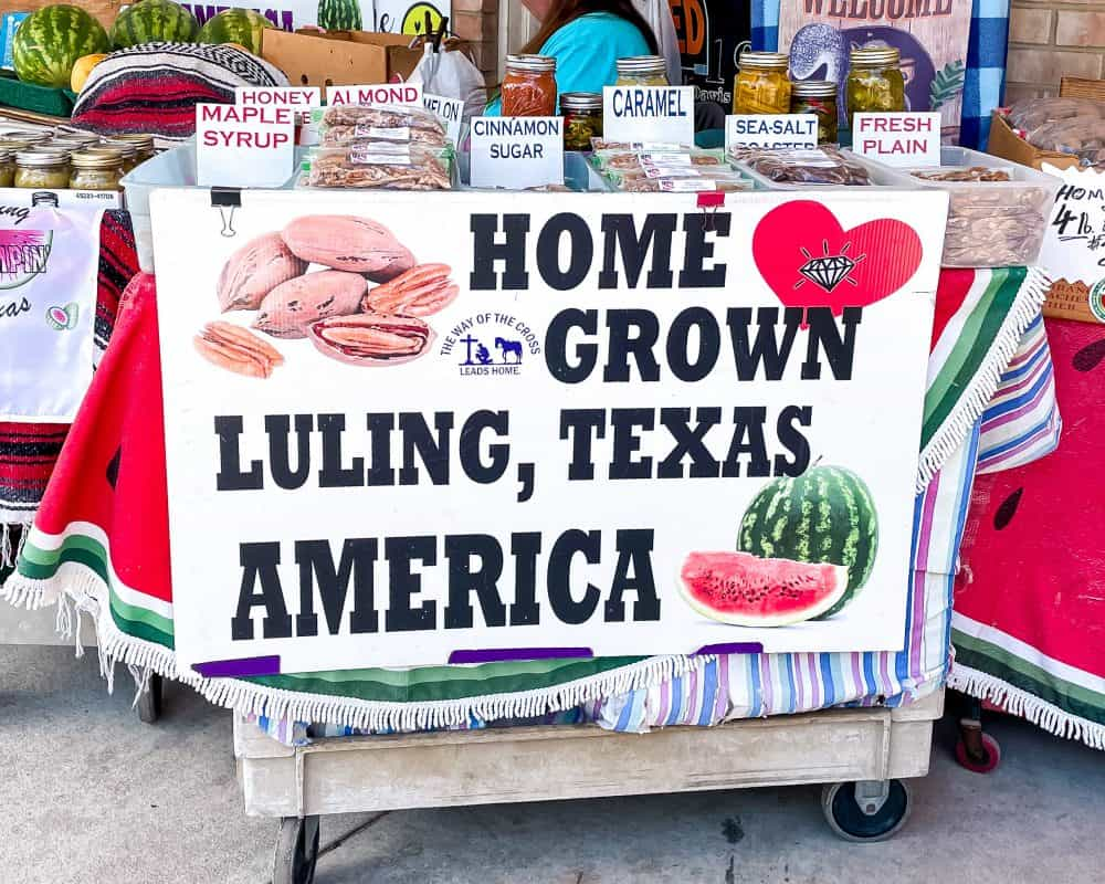 Texas - Luling - Watermelon Stand - Pecans - Luling Watermelon Thump