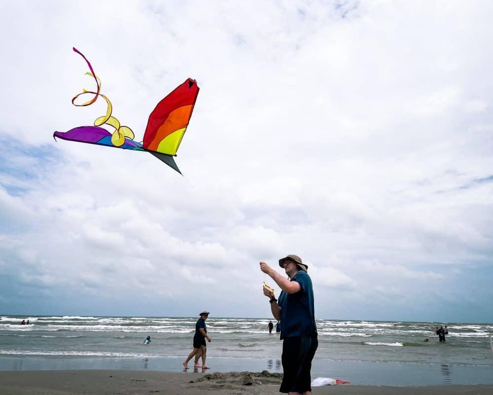Texas - Corpus Christi - Port Aransas -Kite Flying