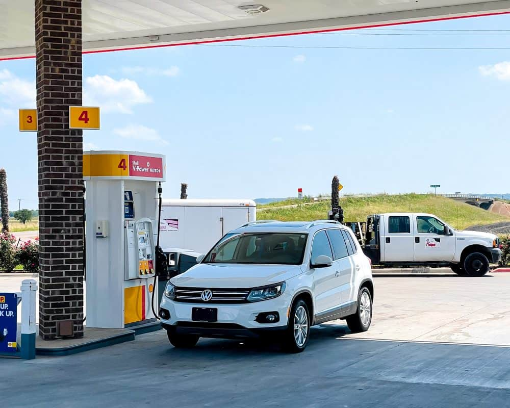 Texas - Driving from OKC to Dallas/Fort Worth- - Fort Worth Service Station