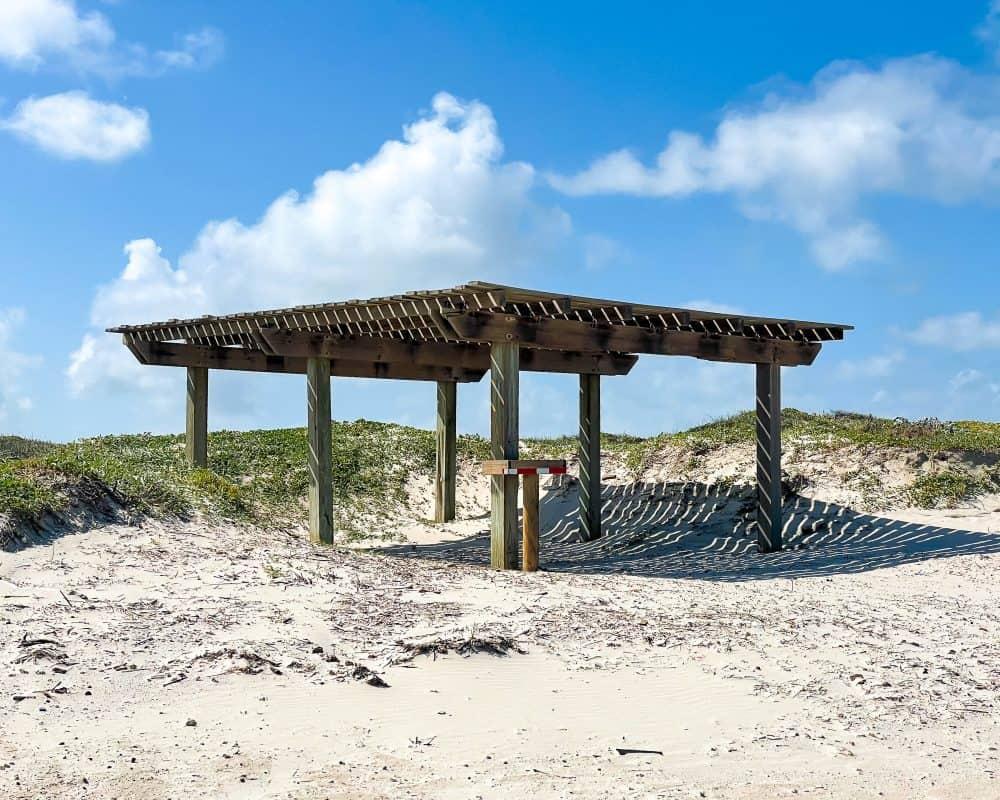 Texas - Corpus Christi - Mustang Island State Park - Palapa and Picnic Area