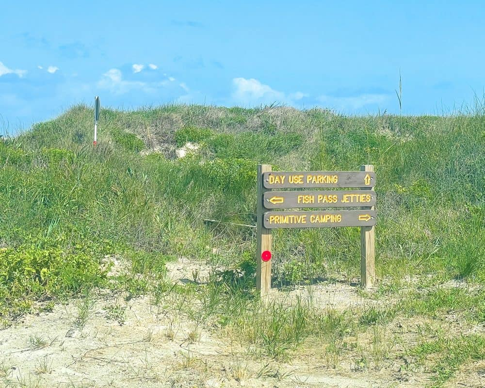 Texas - Corpus Christi - Mustang Island State Park - Day Use Parking - Fish Pass Jetties - Primitive Camping