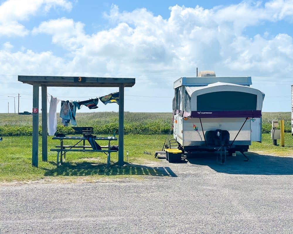 Texas - Corpus Christi - Mustang Island State Park - Electric Campsite - Camping - RV Park
