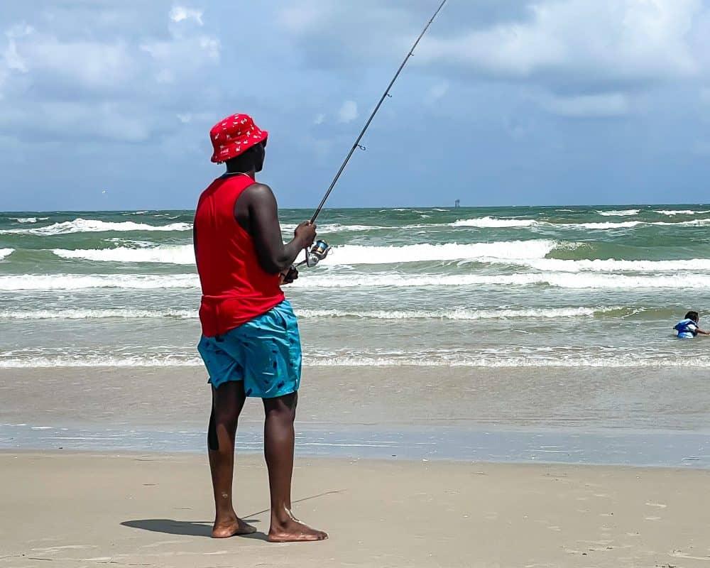 Texas - Corpus Christi - Mustang Island State Park - Valentine Fishing
