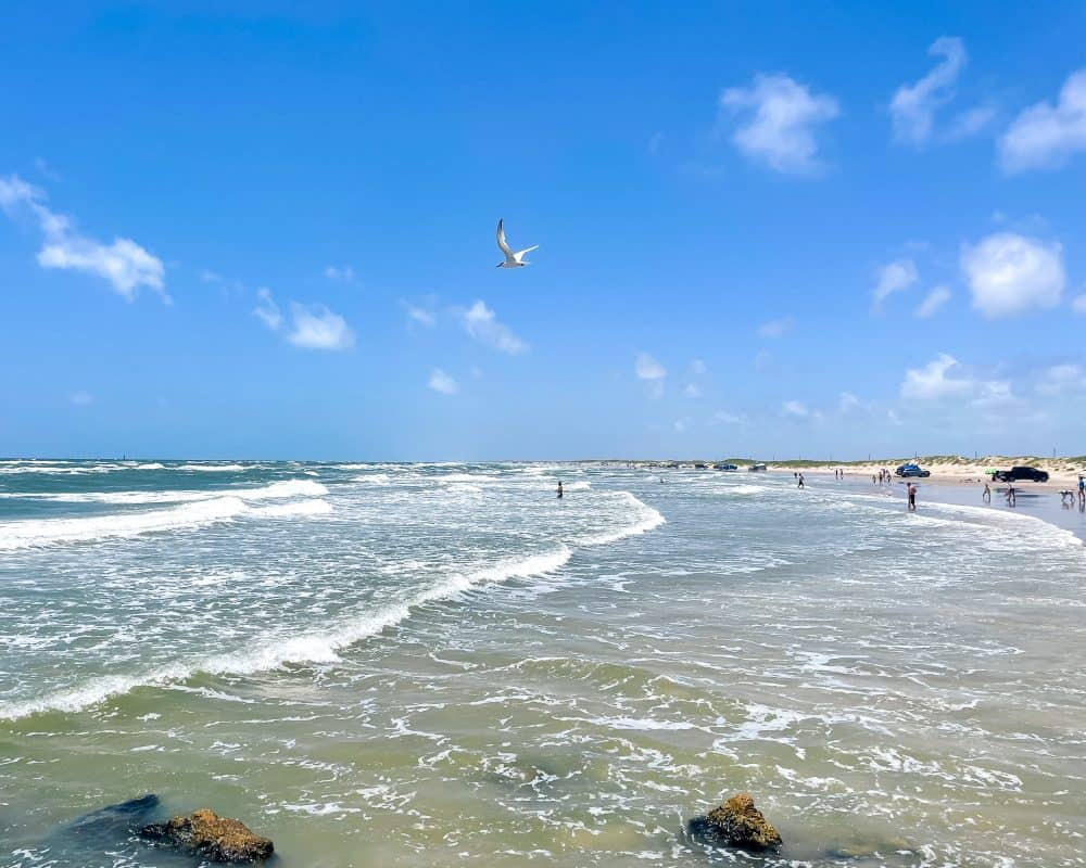 Texas - Corpus Christi - Mustang Island State Park - View from the jetties