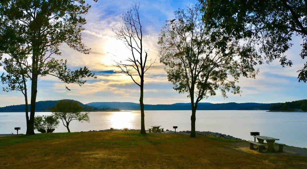 Beautiful evening at Bull Shoals Lake, Baxter County Arkansas